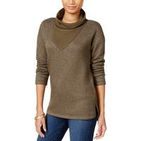 Sanctuary Womens Dunaway Pullover Sweater Two Tone Long Sleeves