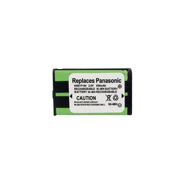 Replacement Battery For Panasonic KX-TG6502 Cordless Phones - P104 (850mAh, 3.6V, Ni-MH)