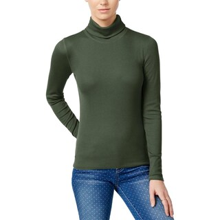 Planet Gold Womens Juniors Turtleneck Top Pleated Pullover (Option: S - kalamata)