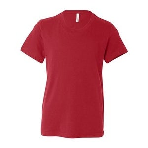 Youth Short Sleeve Crewneck Jersey Tee - Red - M