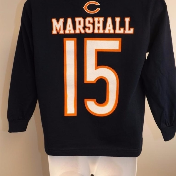 new style dfe62 22d2d Chicago Bears #15 Brandon Marshall Kids 7 L Large Long Sleeve Shirt
