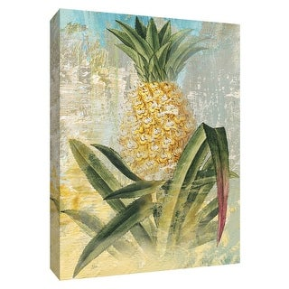 """PTM Images 9-148743  PTM Canvas Collection 10"""" x 8"""" - """"Botanical Pineapple"""" Giclee Fruits & Vegetables Art Print on Canvas"""