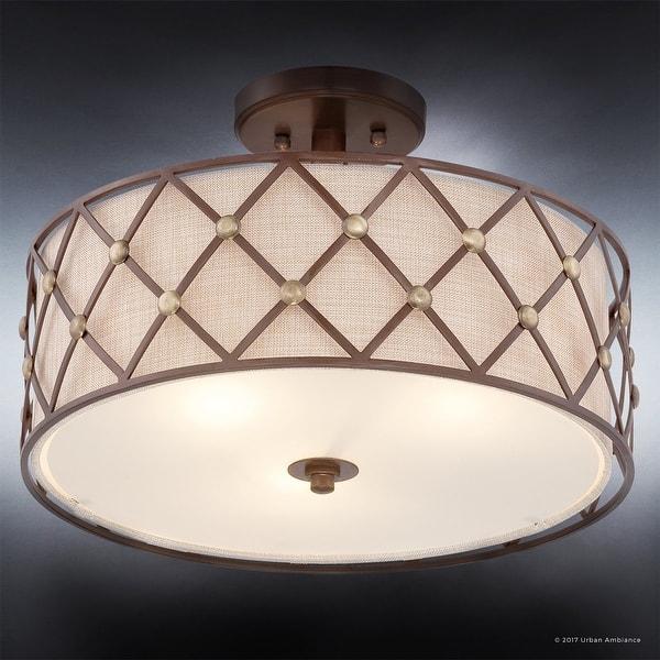 Luxury Art Deco Semi Flush Ceiling Light 11 H X 17 W