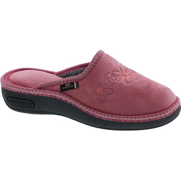 Shop Sc Home Collection Womens 13617 Wedge Flower Embroidered Cozy ...