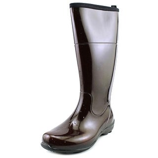 Kamik Ellie Women Round Toe Synthetic Brown Rain Boot