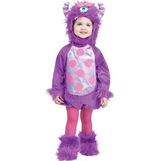 Fun World Li'l Monster Infant/Toddler Costume (Purple) - Purple - 12-24