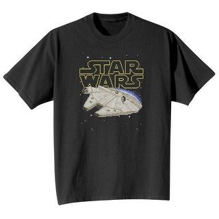 Star Wars Unisex 8-Bit Millennium Falcon T-Shirt - Black