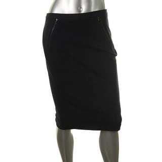 Elie Tahari Womens Maureen Twill Solid Pencil Skirt