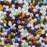 Czech Seed Beads 8/0 Multi Color Opaque (1 Ounce)