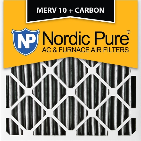 shop nordic pure 18x18x1 pleated merv 10 plus carbon ac furnace air ...