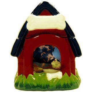 Dog Treat Jar with Photo Frame