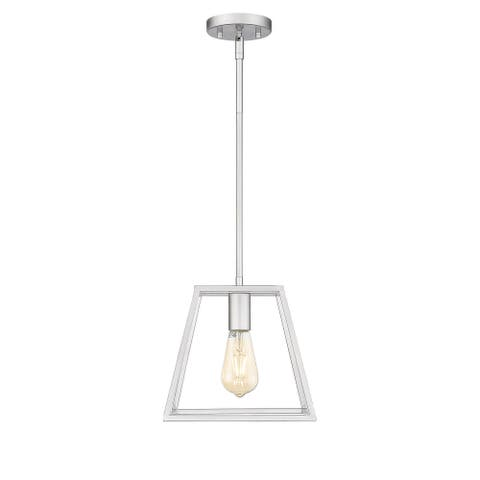 OVE Decors Adele 1-Light 10 in. Ceiling Pendant Light in Painted Brushed Nickel finish