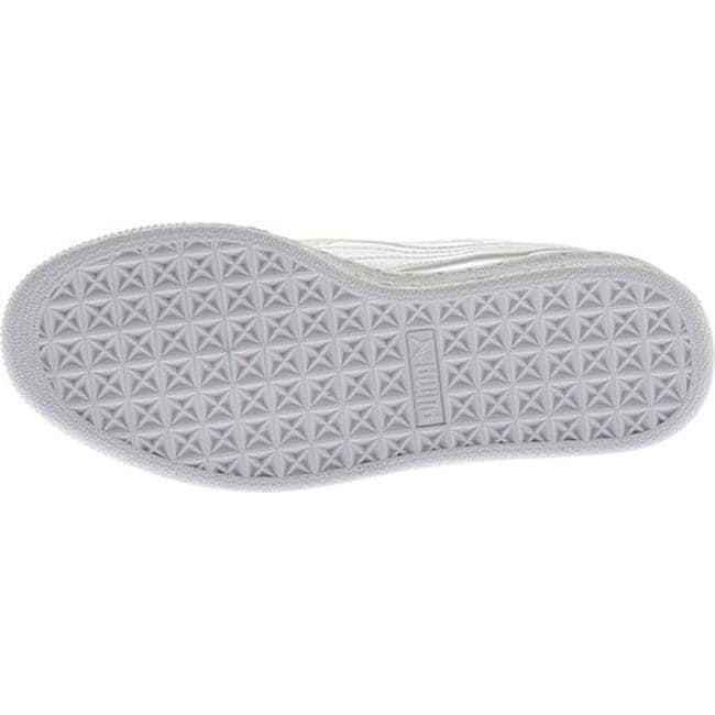 wholesale dealer ed998 fb1a4 PUMA Women's Basket Heart Patent Sneaker PUMA White/PUMA White