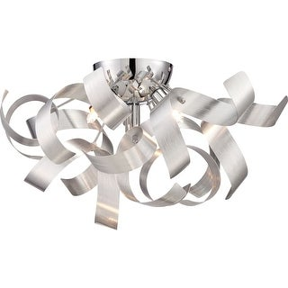 "Platinum RBN1616 Ribbons 4 Light 17"" Wide Flush Mount Ceiling Fixture"