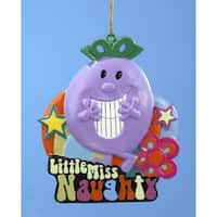 Tween Christmas Little Miss Naughty Book Character Ornament - PURPLE