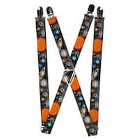 Buckle Down Men's Elastic Solar System Print Clip-End Suspenders - one size