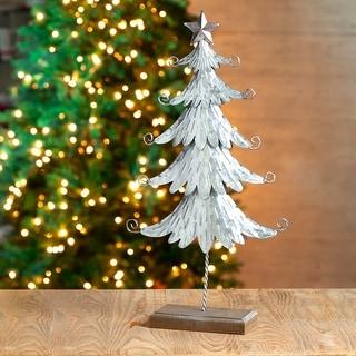 "Glitzhome 20""H Galvanized Metal Table Tree"