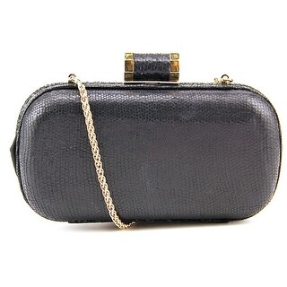 Halston Heritage Oblong Metallic Minaudiere Evening Bag Women - Black