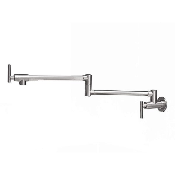 DFI Wall Mounted Pot Filler Kitchen Faucet With Double Joint Swing Arm