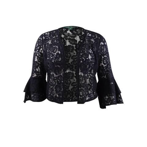 Lauren by Ralph Lauren Women's Bell-Sleeve Cardigan - Black