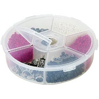 "4.25""X4.25""X1.25"" Clear - Creative Options Round Accessory Organizer"