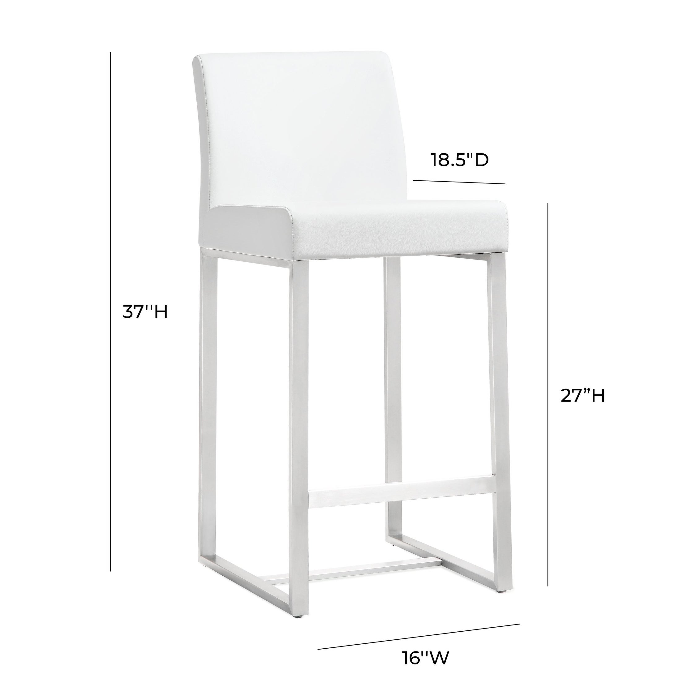 Denmark White Counter Stools Set Of 2 On Sale Overstock 12095205