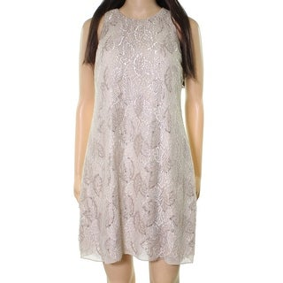 Lauren by Ralph Lauren Women Petite Lace Shift Dress
