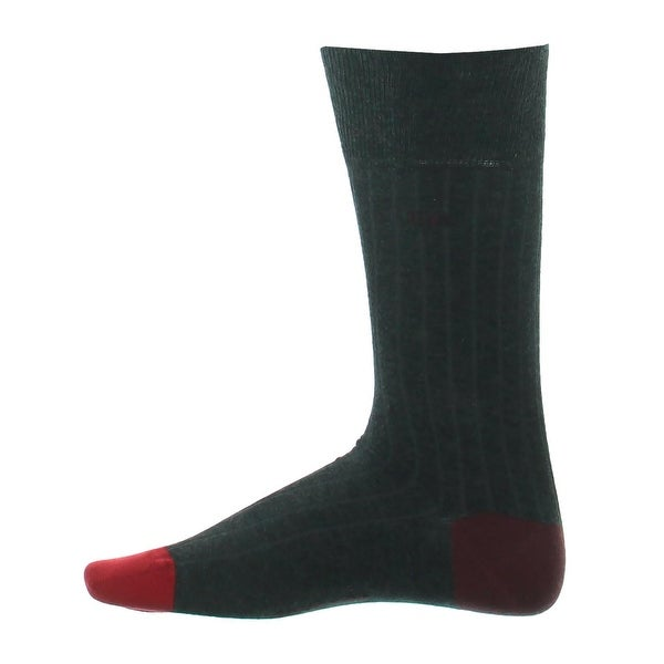 Calvin Klein Mens Dress Socks Egyptian Cotton Ribbed - 7-12