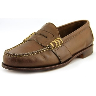 Ralph Lauren Edric Round Toe Leather Loafer