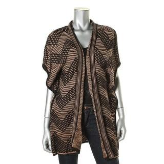 Nic + Zoe Womens Knit Pattern Cardigan Top
