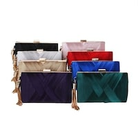 3d1188ede14 Women's Evening Clutch Bag Stain Fabric Bridal Purse For Wedding Prom Night  Out Party