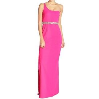Aidan Mattox NEW Pink Women's 0 Embellished Empire Waist Maxi Dress