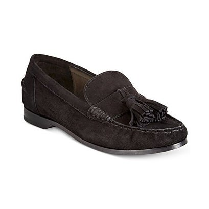 Cole Haan Womens Pinch Tassel Suede Closed Toe Loafers