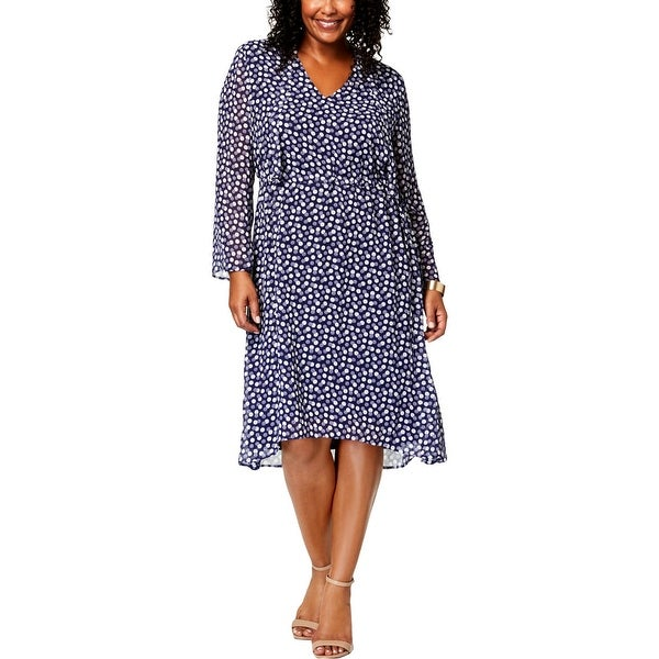 Shop Anne Klein Womens Plus Casual Dress Knee Length Fit