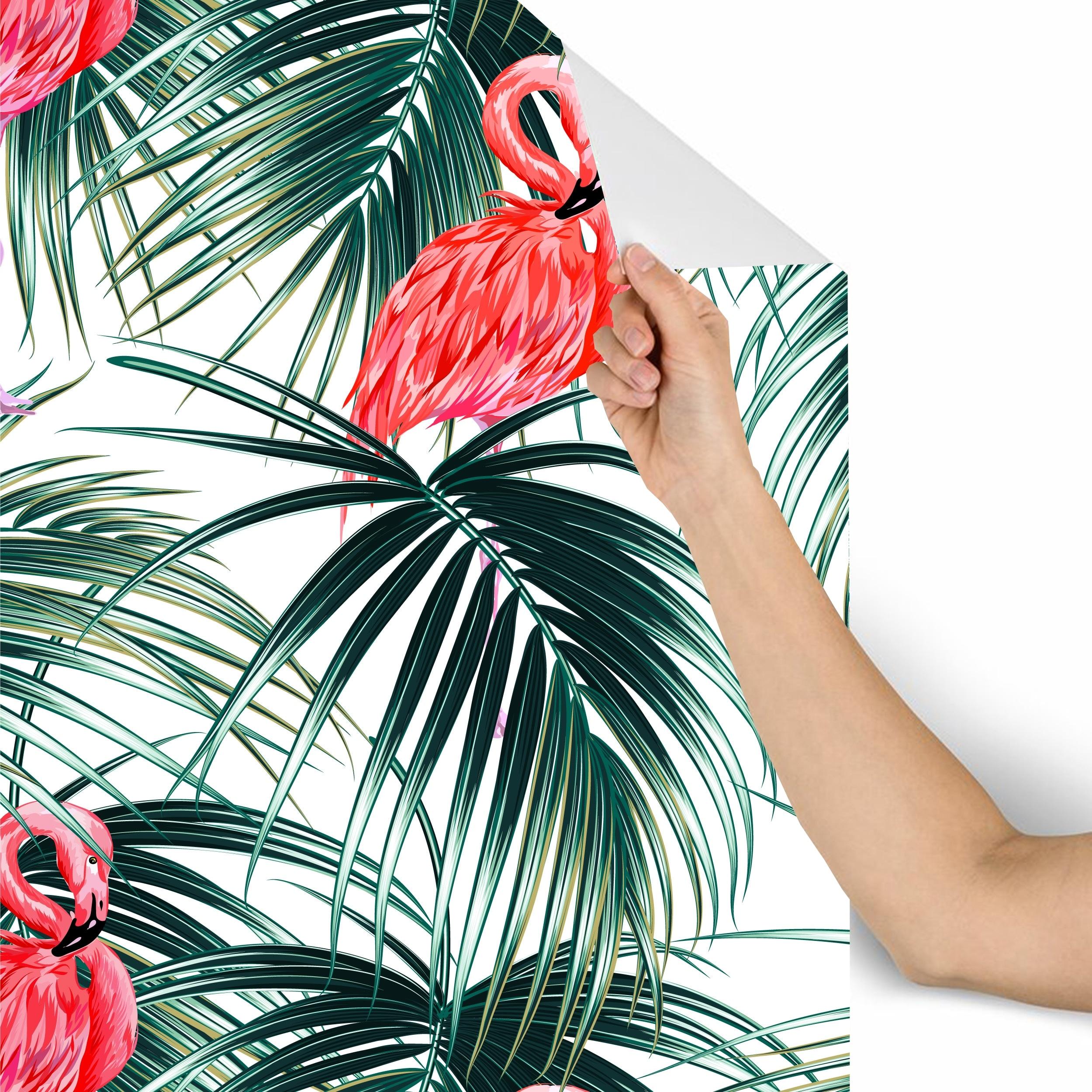 Wallpaper Roll Tropical Tunes Summer Flamingo Beach Decor 24in x 27ft