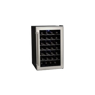 Koldfront TWR282 18 Inch Wide 28 Bottle Wine Cooler with Thermoelectric Cooling