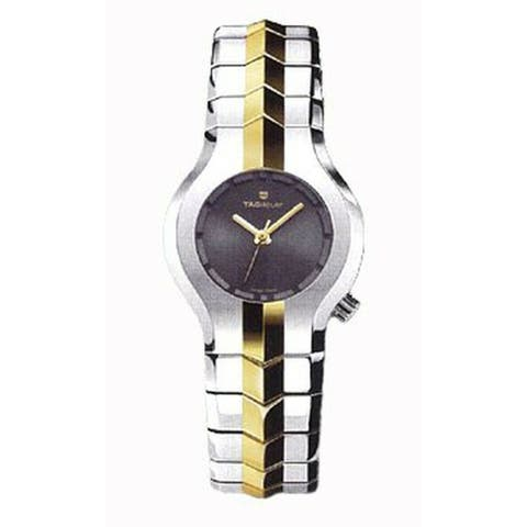Tag Heuer Women's WP1351.BD0752 'Alter Ego' Two-Tone 18kt Gold and Stainless Steel Watch - Black