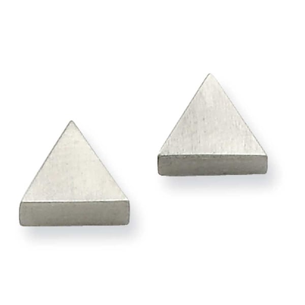 Chisel Stainless Steel Satin Triangle Post Earrings