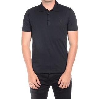 Versace Men Medusa Polo Shirt Black