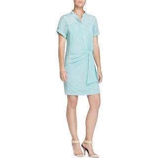 DKNY Womens Shirtdress Silk Cuff Sleeve