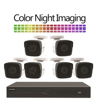 LaView 8-Channel 5MP HD-TVI 1TB HDD Surveillance DVR with (6) 5MP Bullet Cameras With Color Night Imaging