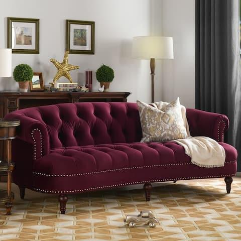 Gracewood Hollow Zeleza Tufted Chesterfield Sofa