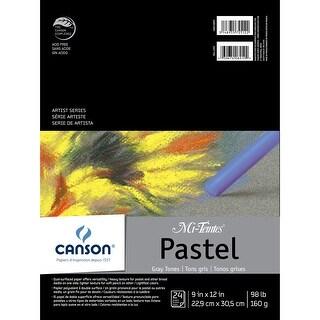"Canson Mi-Teintes Pastels Paper Pad 9""X12""-Gray Tones 24 Sheets"