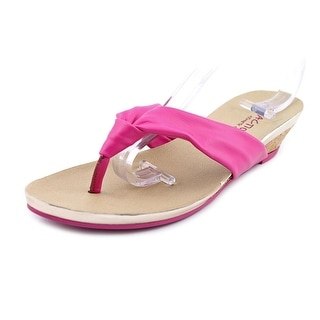 Kenneth Cole Reaction Great Date Open Toe Leather Wedge Sandal