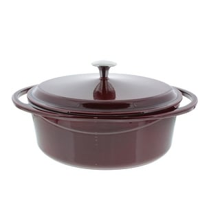 La Maison Cast Iron Oval Casserole Pan