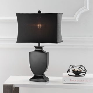 """Link to Safavieh Lighting 24-inch Darcy Black Crystal Urn Table Lamp - 14""""x7""""x23.5"""" Similar Items in Table Lamps"""