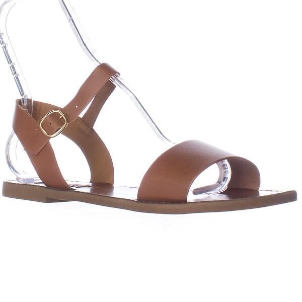 Steve Madden Donddi Flat Ankle Strap Sandals, Tan