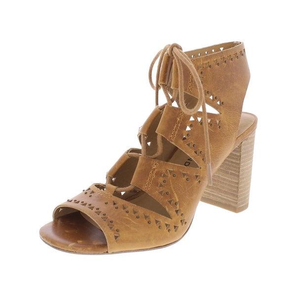 Lucky Brand Womens Tafia Heels Leather Studded