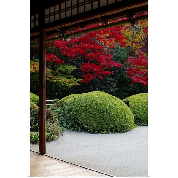 """Zen garden from meditation hall, Shisendo"" Poster Print"