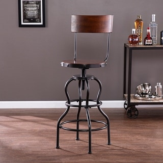 Link to Carbon Loft Willoughby Industrial Brown Wood Bar Stool Similar Items in Dining Room & Bar Furniture